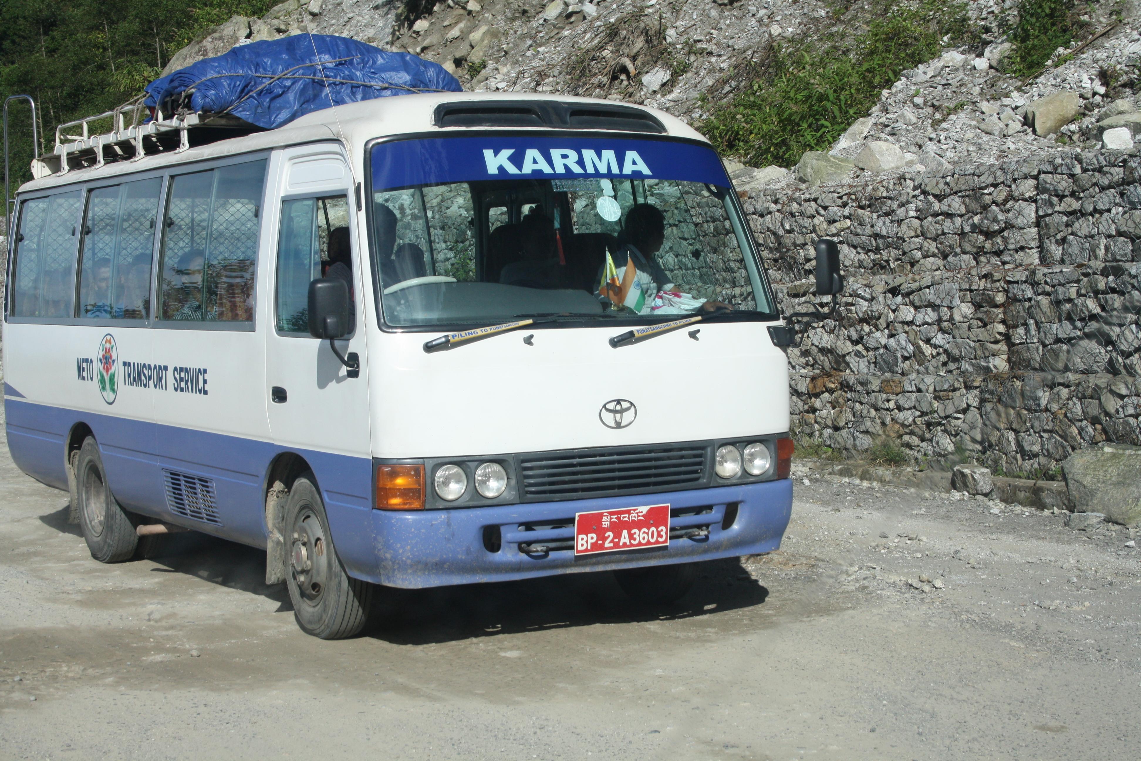 भूटान की बस सेवा